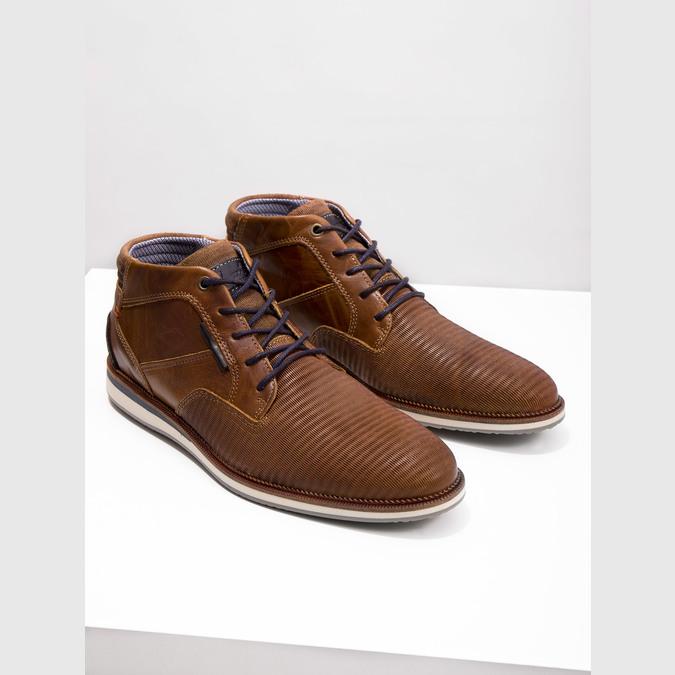 Ležérní kotníková obuv kožená bata, hnědá, 826-3912 - 14