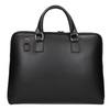 Kožená taška s odnímatelným popruhem bata, černá, 964-6223 - 26