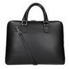 Kožená taška s odnímatelným popruhem bata, černá, 964-6223 - 16