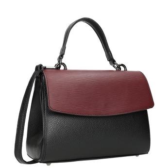 Dámská kožená kabelka s popruhem bata, černá, 964-6248 - 13