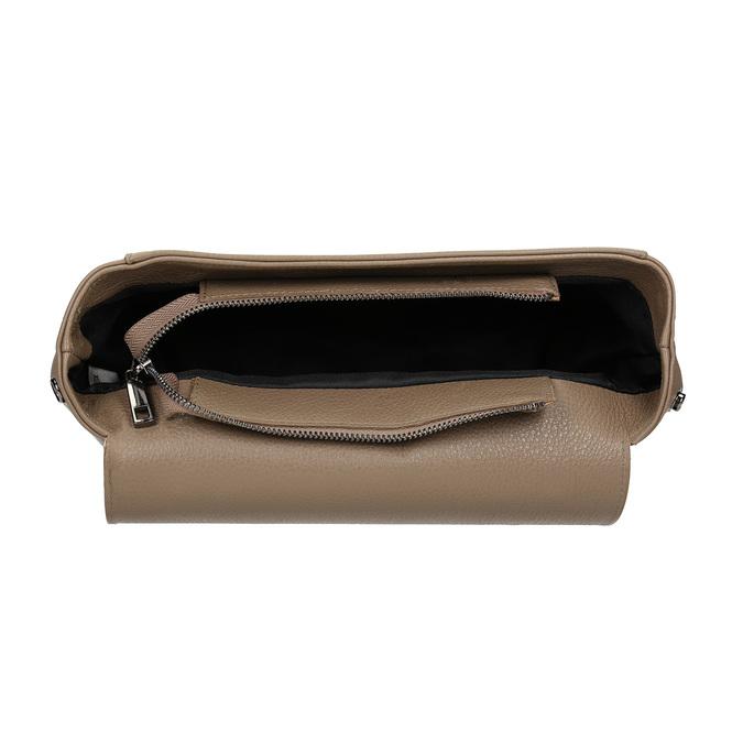 Kožená dámská kabelka bata, béžová, 964-8248 - 15