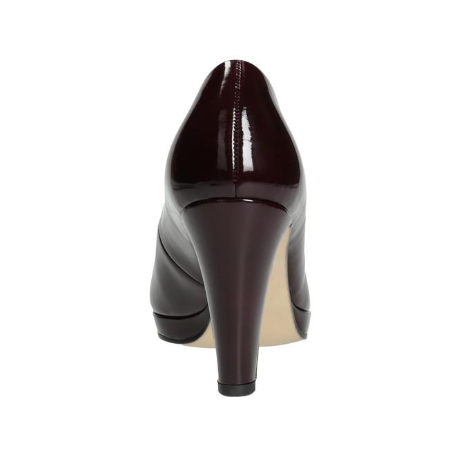 Vínové dámské lodičky gabor, červená, 721-5037 - 16