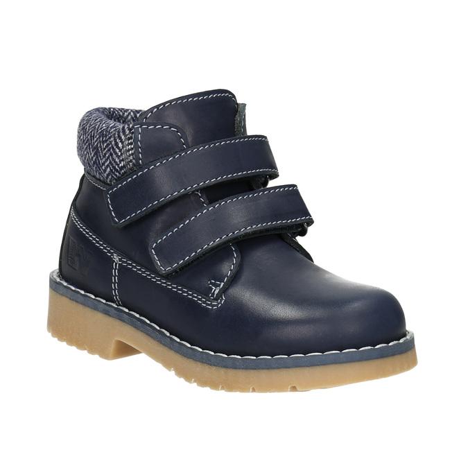 Dětská kožená kotníčková obuv weinbrenner-junior, modrá, 216-9200 - 13