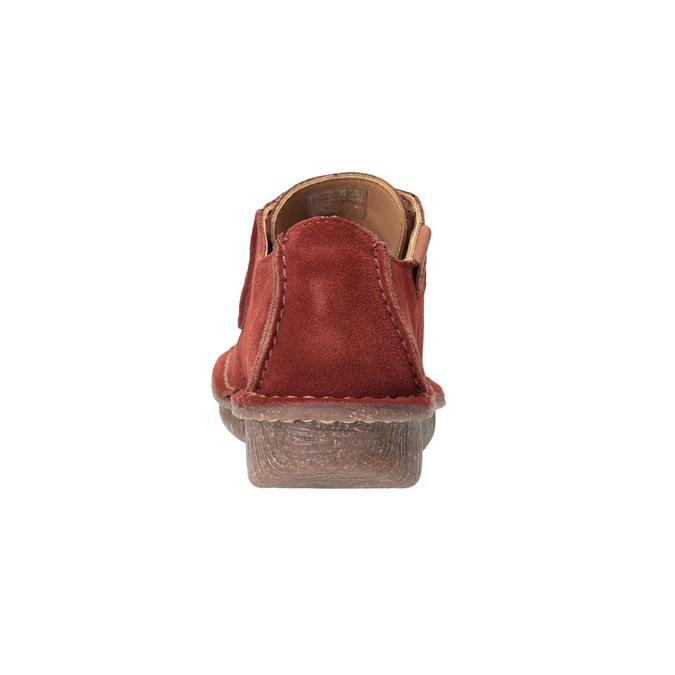Ležérní dámské polobotky clarks, červená, 623-5033 - 16