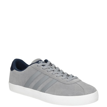 Šedé kožené tenisky adidas, šedá, 803-7197 - 13