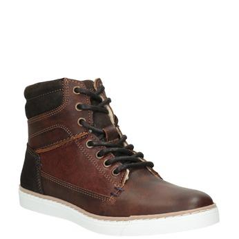 Dětská kotníčková obuv kožená bullboxer, hnědá, 494-4023 - 13