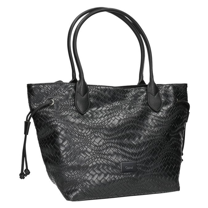 Dámská kabelka se strukturou gabor-bags, černá, 961-6053 - 13