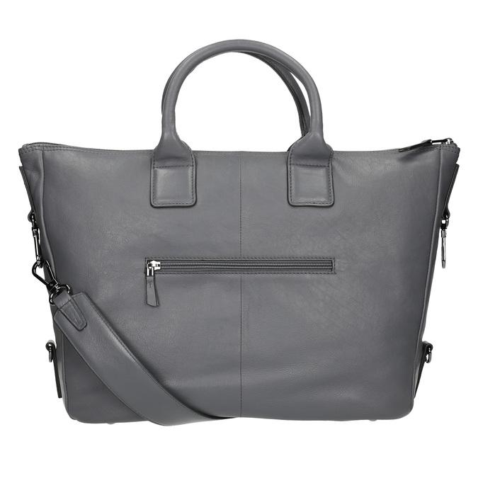 Kožená kabelka se střapcem bree, šedá, 964-2039 - 16