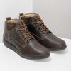 Pánská kožená kotníková obuv s prošitím bata, hnědá, 846-4645 - 26