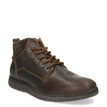 Pánská kožená kotníčková obuv bata, hnědá, 846-4645 - 13