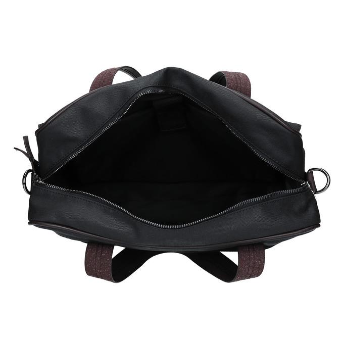 Pánská textilní taška bata, černá, 969-6131 - 15