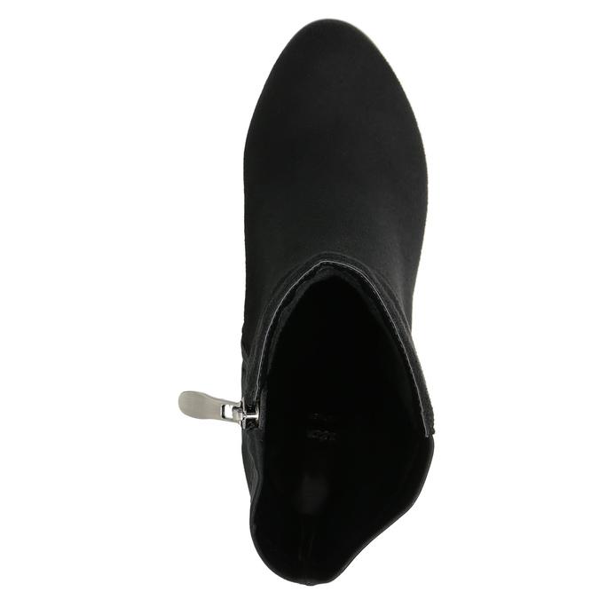Kotníčkové kozačky na podpatku bata, černá, 699-6636 - 26