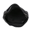 Kožená černá Hobo kabelka bata, černá, 964-6261 - 15