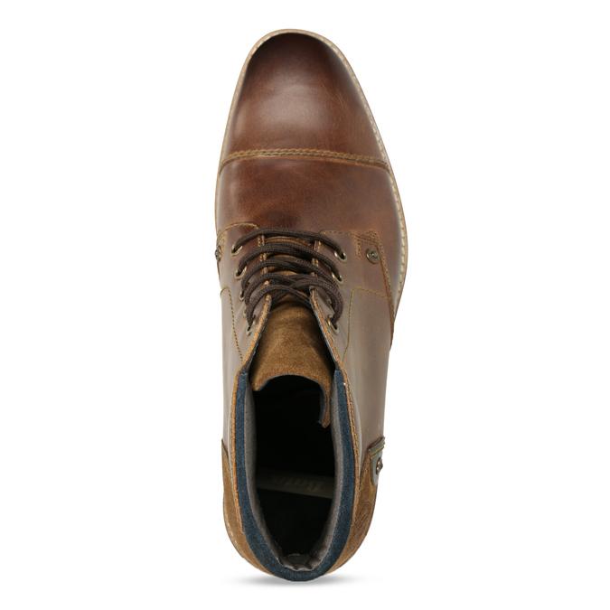 Pánská kožená kotníková obuv bata, hnědá, 826-3611 - 17