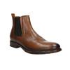Hnědé kožené Chelsea Boots bata, hnědá, 896-3673 - 13