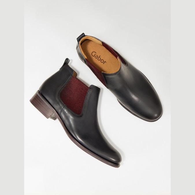 Kožené kotníčkové Chelsea Boots gabor, modrá, 516-4036 - 18