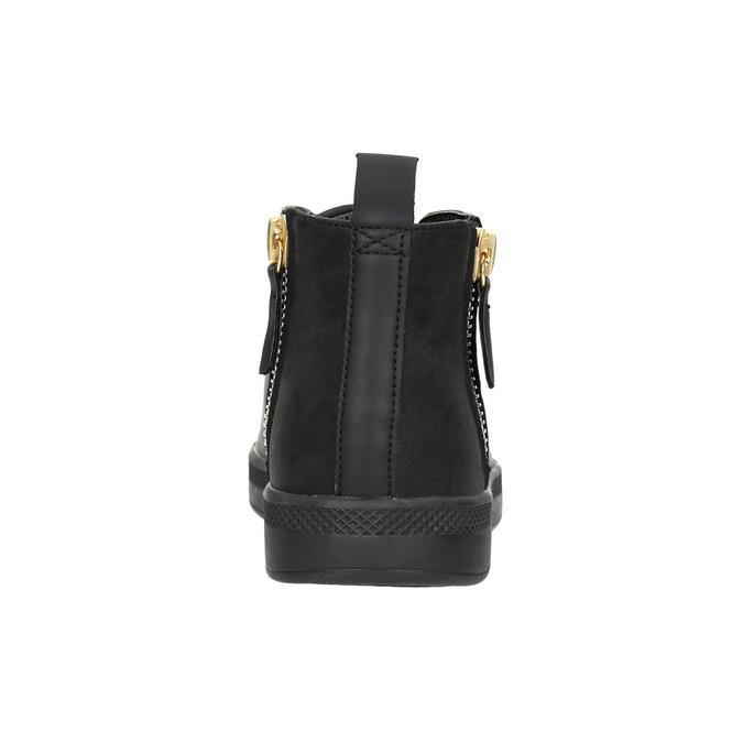 Černé kotníčkové tenisky, černá, 501-6172 - 16