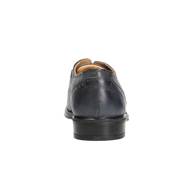 Modré kožené polobotky pánské bata, modrá, 826-9913 - 17