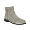 Kotníčková obuv z broušené kůže bata, šedá, 593-2603 - 13