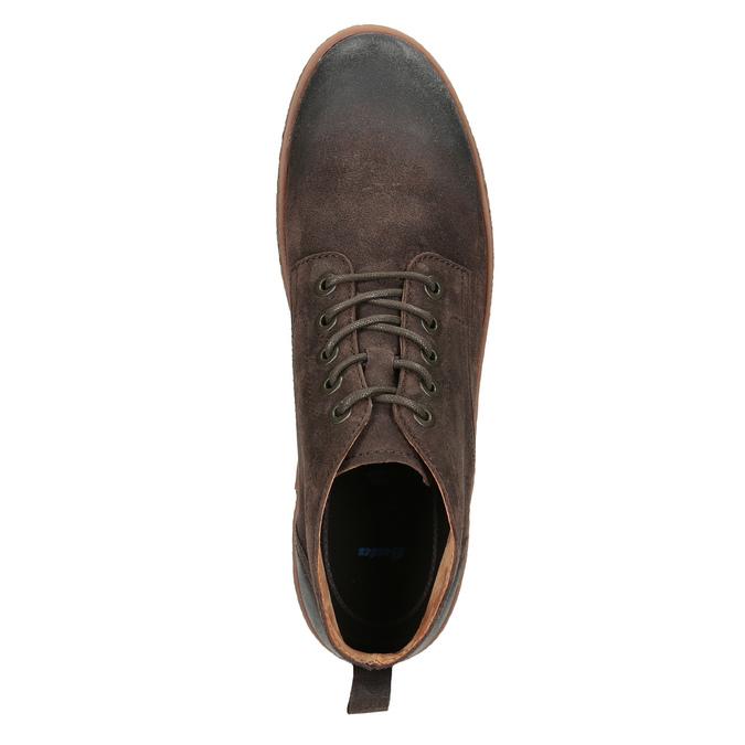 Pánská kožená kotníčková obuv bata, hnědá, 846-4653 - 15