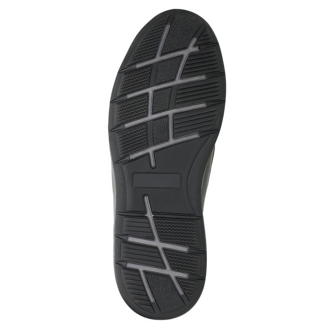 Pánské kožené tenisky bata, černá, 824-6921 - 19