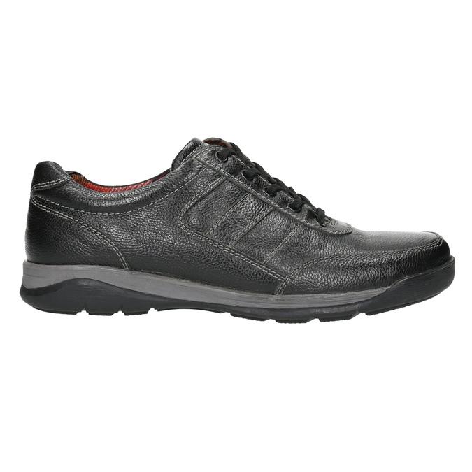 Pánské kožené tenisky bata, černá, 824-6921 - 15