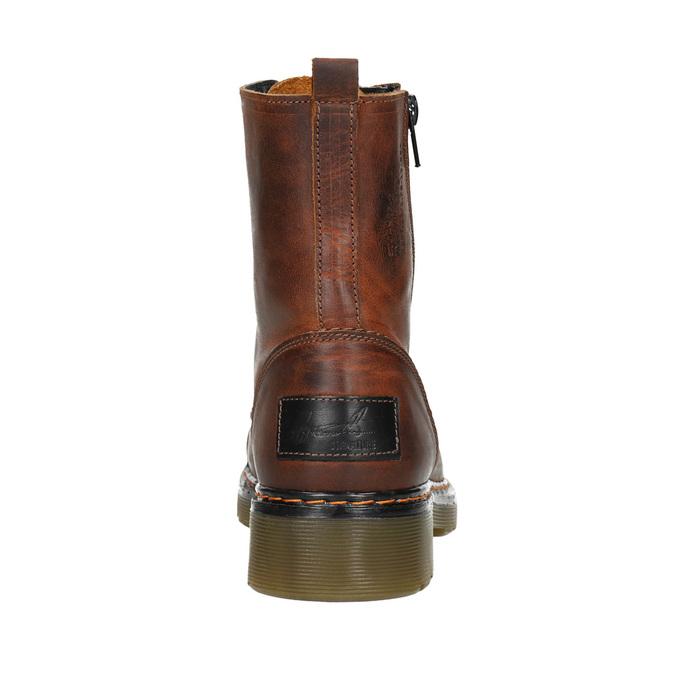 Dámská kotníčková obuv se zipem bata, hnědá, 596-3681 - 16