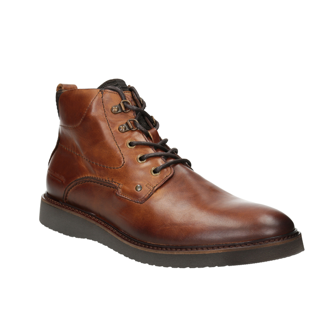Kožená kotníčková obuv bata, hnědá, 896-3675 - 13