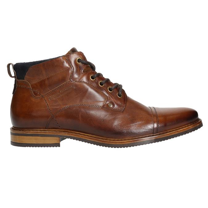 Kožená kotníčková obuv hnědá bata, hnědá, 896-3674 - 15