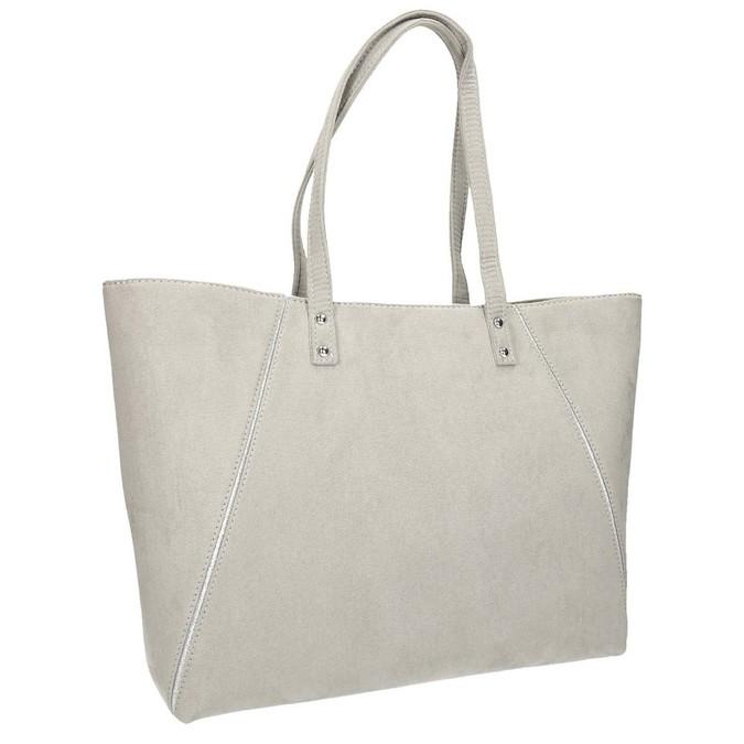 Béžová kabelka se stříbrnými detaily bata, šedá, 969-2669 - 13
