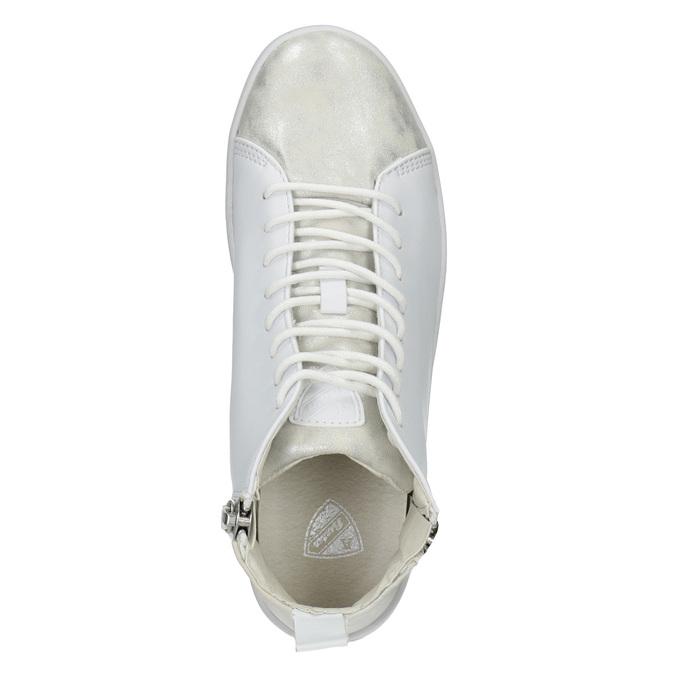 Bílé kotníčkové tenisky, bílá, 501-1172 - 15