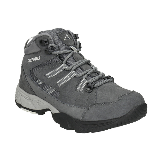 Kožená kotníčková obuv v Outdoor stylu power, šedá, 503-2232 - 13