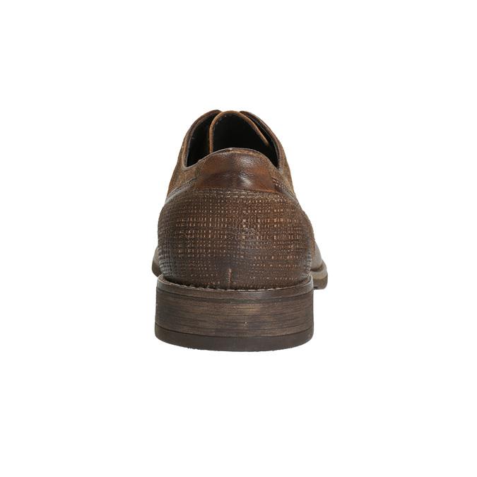 Kožené pánské polobotky s prošitím bata, hnědá, 826-4610 - 17