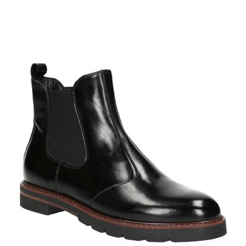 Kožená dámská Chelsea obuv bata, černá, 596-6657 - 13
