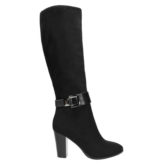 Dámské kozačky na podpatku bata, černá, 699-6631 - 15