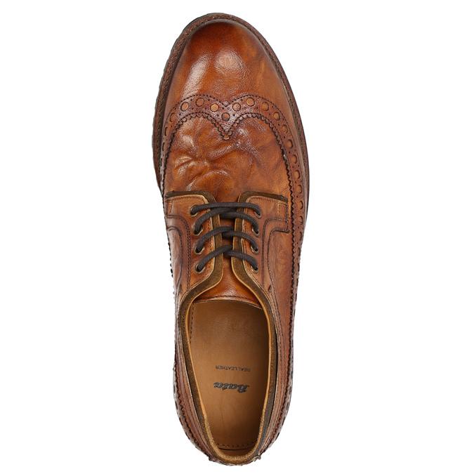 Pánské kožené polobotky bata, hnědá, 826-3916 - 26