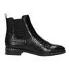 Kožená dámská Chelsea obuv se strukturou bata, černá, 596-6678 - 15