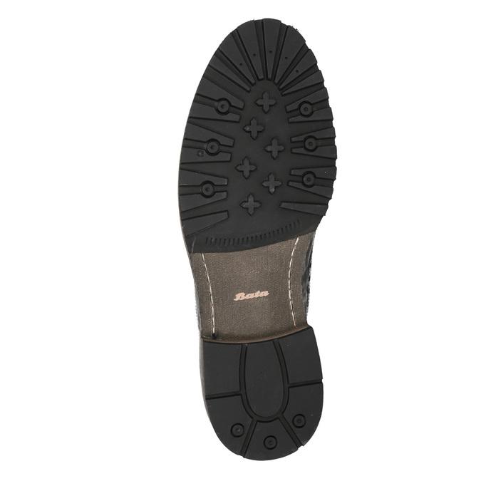 Ležérní pánské polobotky bata, hnědá, 826-4916 - 19