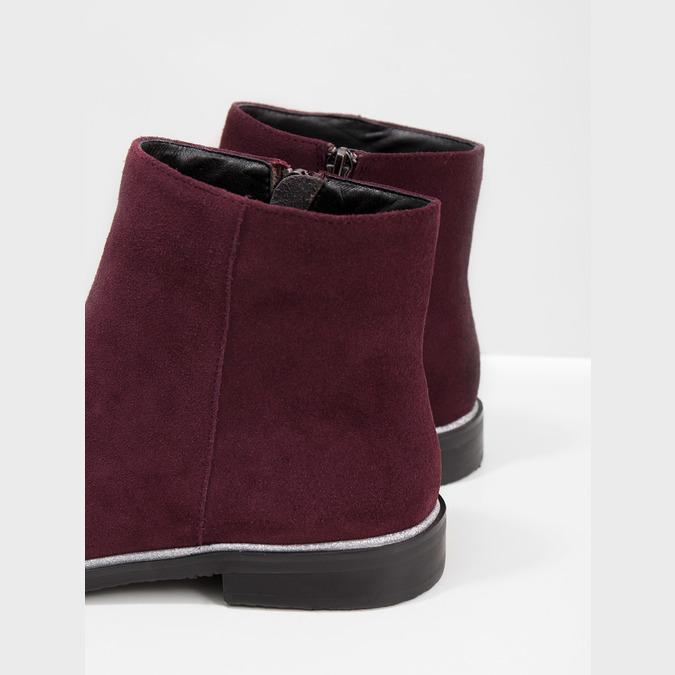 Kotníčková obuv z broušené kůže bata, červená, 593-5603 - 14