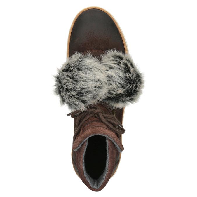 Kožená kotníčková obuv weinbrenner, hnědá, 596-4674 - 15
