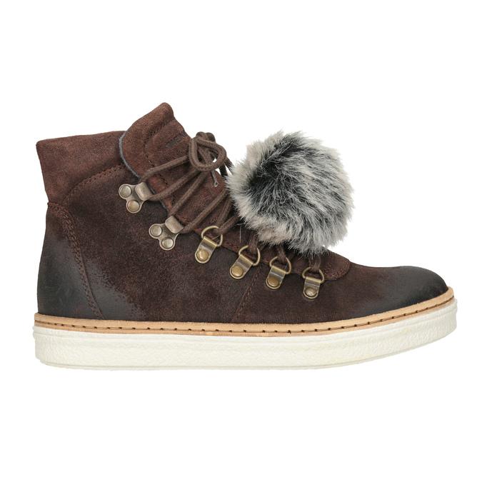 Kožená kotníčková obuv weinbrenner, hnědá, 596-4674 - 26