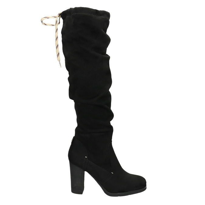 Černé dámské kozačky na podpatku bata, černá, 799-6614 - 15