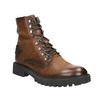 Kožená kotníčková obuv bata, hnědá, 896-3663 - 13