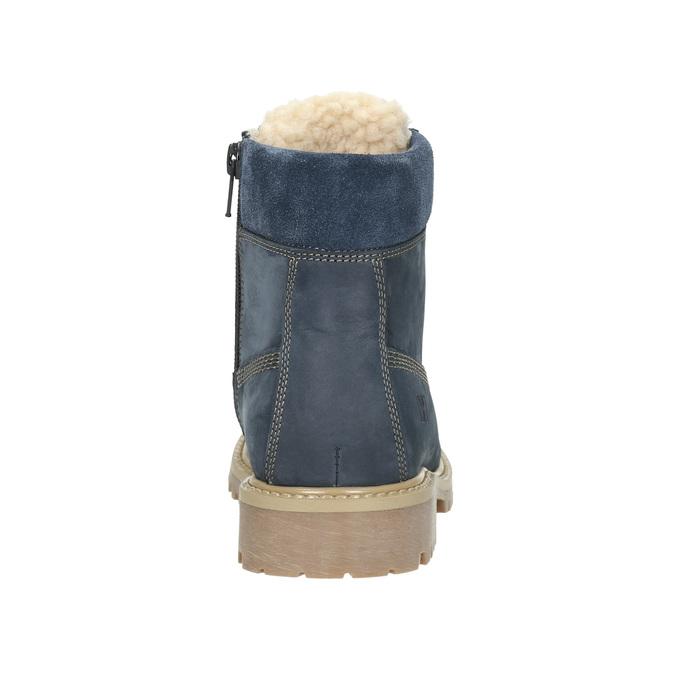 Dětská zimní obuv s kožíškem weinbrenner-junior, modrá, 416-9600 - 17
