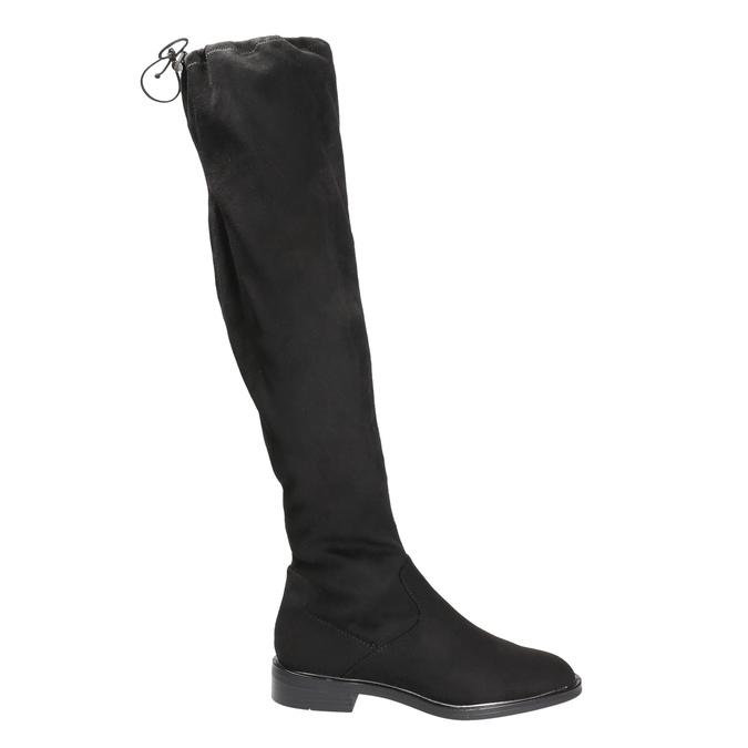 Dámské kozačky nad kolena bata, černá, 599-6616 - 15