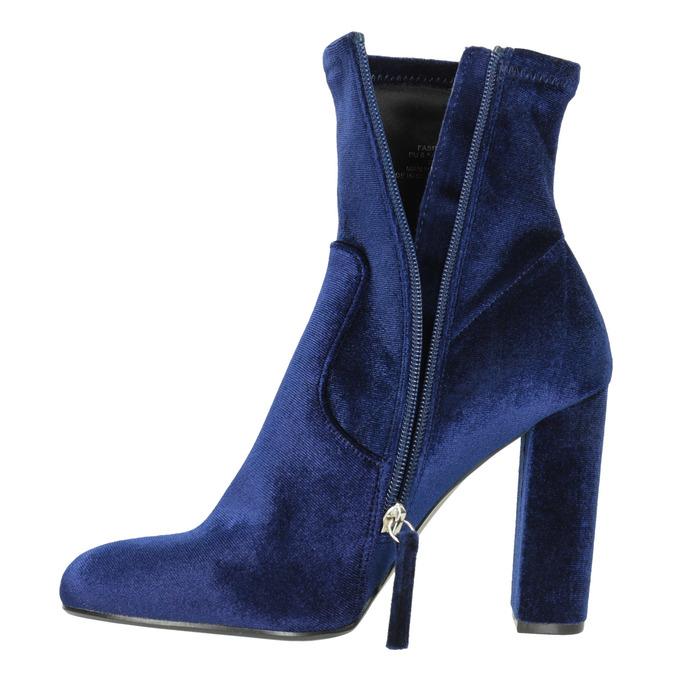 Sametové modré kozačky steve-madden, modrá, 719-9017 - 15
