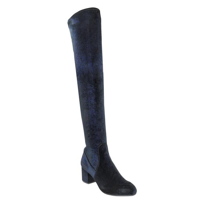Dámské kozačky nad kolena modré steve-madden, modrá, 719-9024 - 13