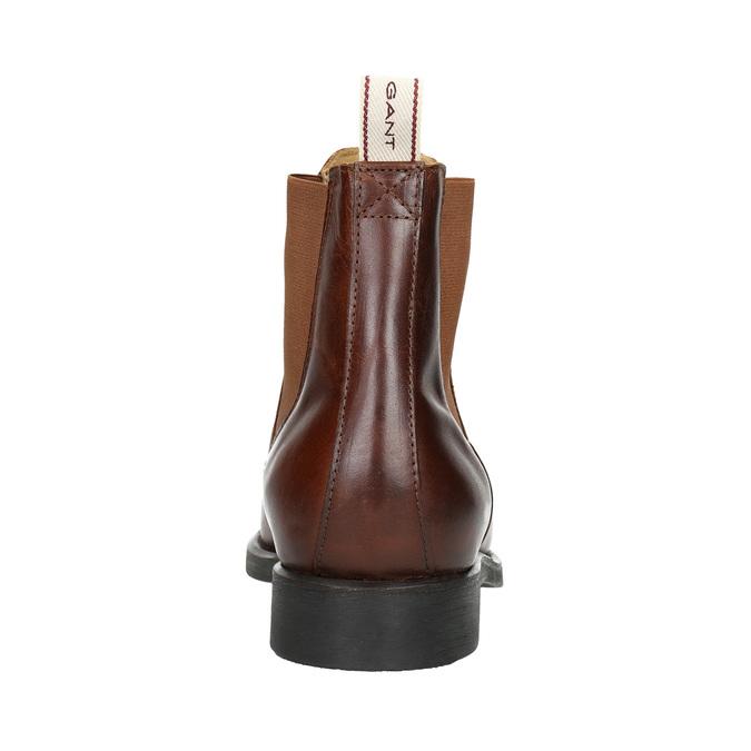 Hnědá kožená Chelsea obuv gant, hnědá, 514-4077 - 17