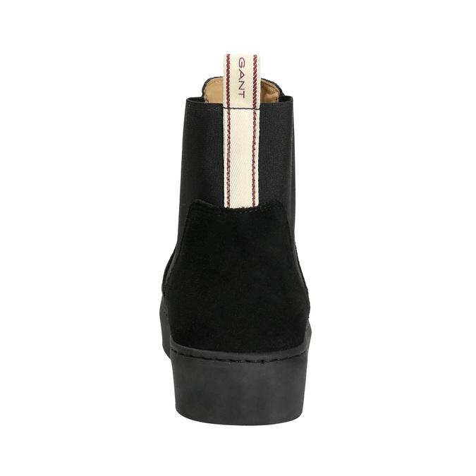 Dámská kožená kotníčková obuv gant, černá, 513-6062 - 17