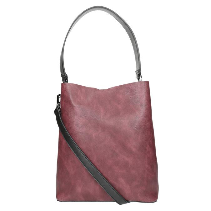 Dámská dvoubarevná kabelka bata, černá, 961-6173 - 26